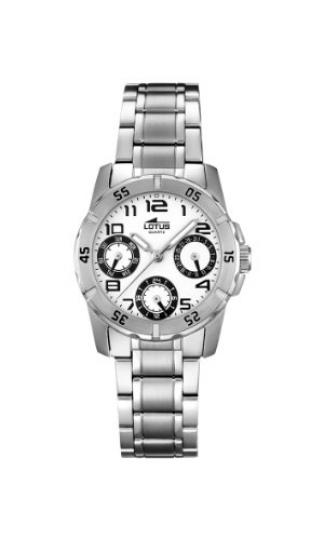 6a322271e6e7 Lotus 0 – Reloj de cuarzo para mujer, con correa de acero inoxidable, color  plateado