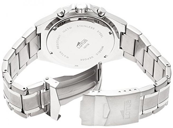 08db83854c4b Lotus 10118 1 – Reloj cronógrafo de cuarzo para hombre con correa de acero  inoxidable