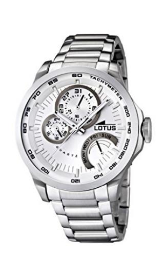 8672fd9fd372 Lotus 15845 1 – Reloj analógico de cuarzo para hombre con correa de acero  inoxidable