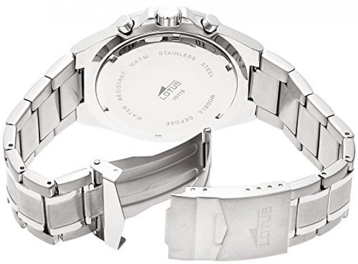 3aaf6228564e Lotus 10118 3 – Reloj cronógrafo de cuarzo para hombre con correa de acero  inoxidable