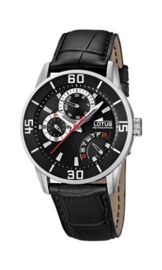 4a54fe33ad80 Lotus 15798 3 – Reloj analógico de cuarzo para hombre con correa de piel