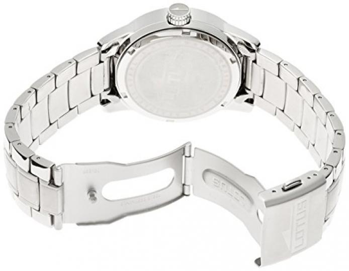 fa8a44446dc7 Lotus 15797 2 – Reloj analógico de cuarzo para hombre con correa de acero  inoxidable