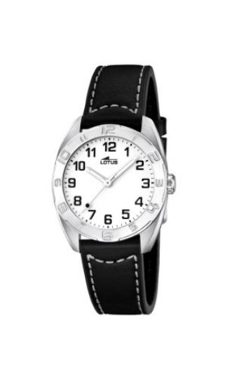 9b98d4804607 Lotus 0 – Reloj de cuarzo para mujer, con correa de cuero, color negro