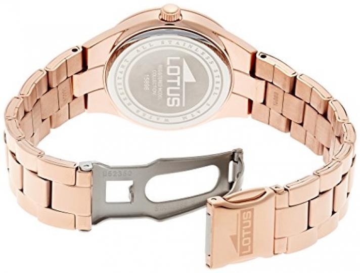 485462be9f52 Lotus 0 – Reloj de cuarzo para mujer, con correa de acero inoxidable, color  oro rosa