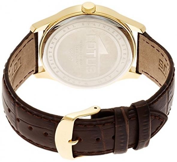 f45c7afcd Lotus 15957/3 – Reloj de cuarzo para hombre, con correa de cuero, color  marrón