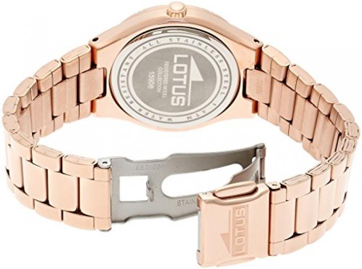 808bdc9c917f Lotus 0 – Reloj de cuarzo para mujer, con correa de acero inoxidable, color  dorado