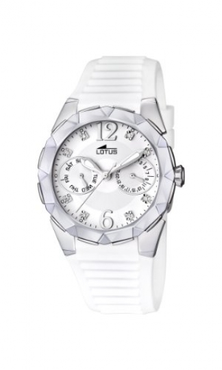 bbeebc2ddc48 Lotus 15731 1 – Reloj analógico de cuarzo para mujer con correa de caucho